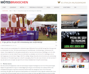 Artikel, Simon Strandvik, Mötesbranschen 3 juni 2015
