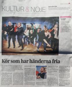 Artikel i Eskilstuna Kuriren den 13 april 2016 om Kören Resonans