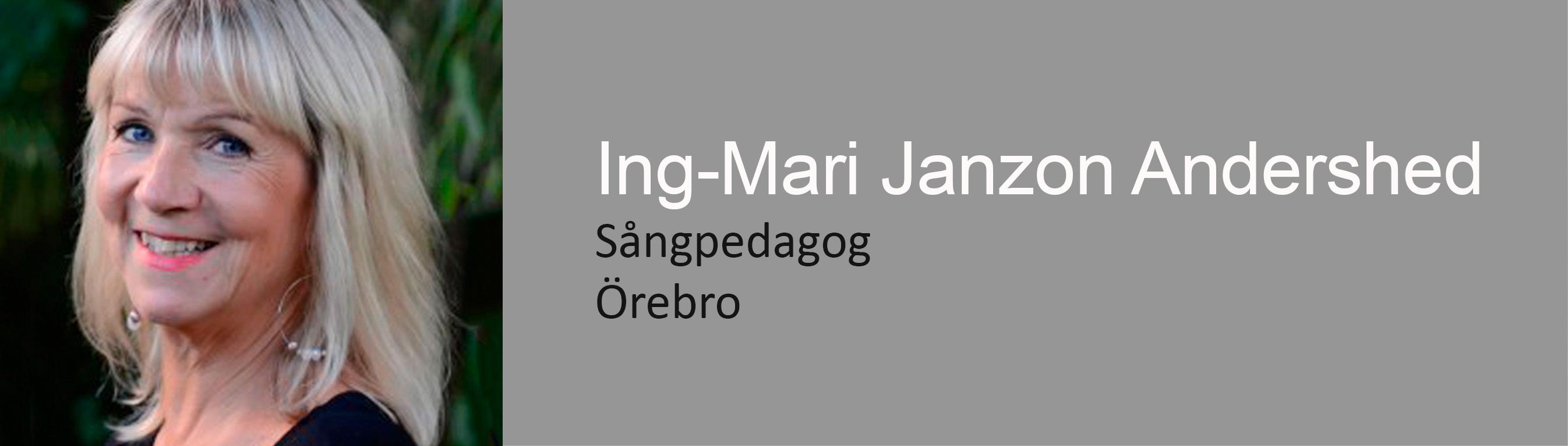 sångpedagog ingmarie janzon andershed