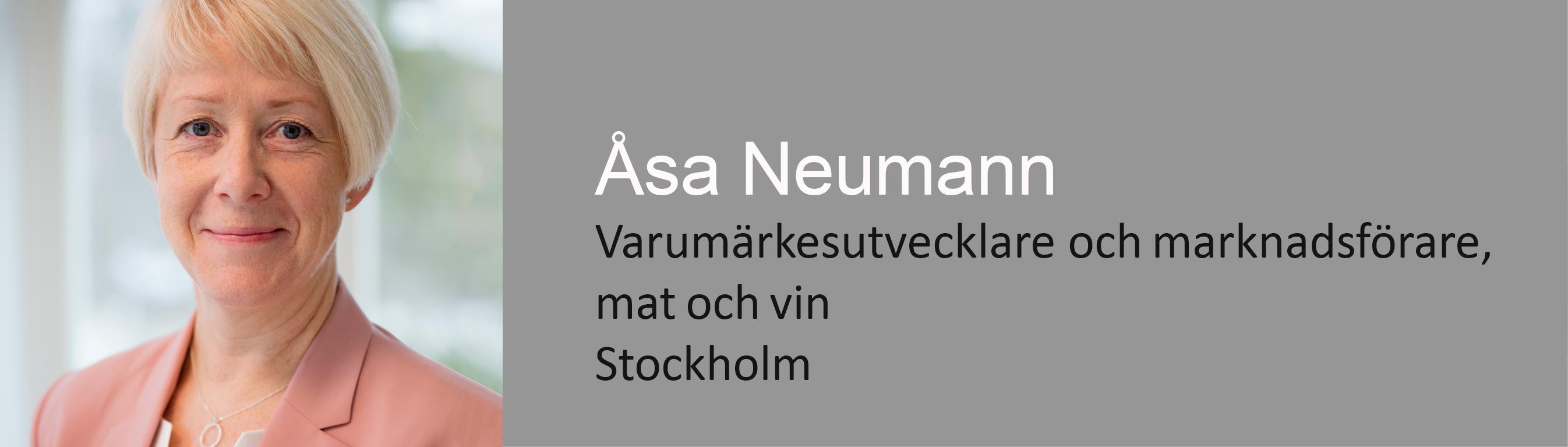 Varumärkesutvecklare och marknadsförare vin och mat, Åsa Neumann